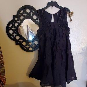 Freepeople Black Mini Dress